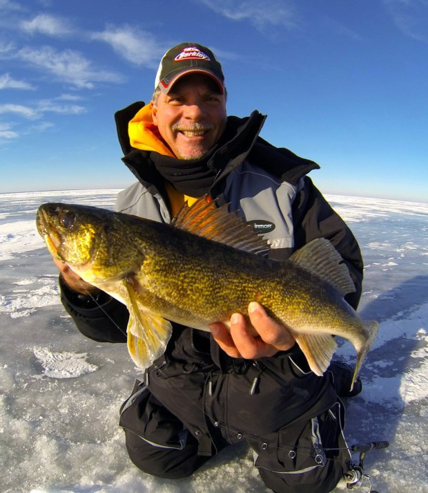 Gary Parsons with a walleye: Ice fishing as a sport has exploded in recent years, and taking the same technology we use in our boats to the ice has been a big reason why. It's the technology that helps us locate and therefore catch more fish – and that makes ice fishing more fun.