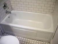 Refinished bathtub  Ontario Park Bungalow Blog