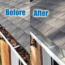 before and after gutter image