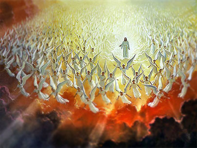 Jezus Christus en de engelen