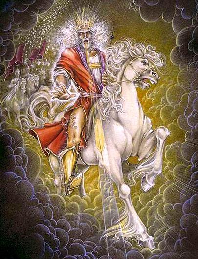 kunstwerk jezus christus op paard