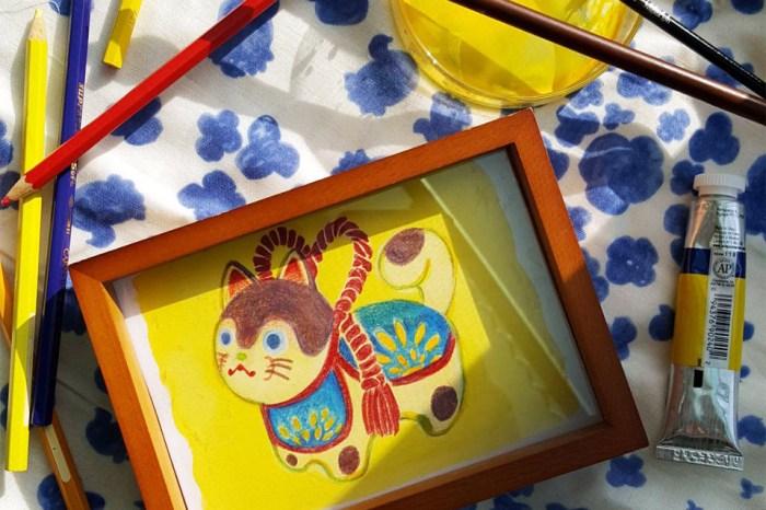 日本文化‒福狗犬張子。新竹色鉛筆。初階班課程