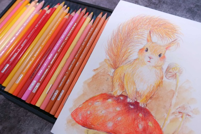 森林小松鼠插畫。新竹色鉛筆。初階班課程