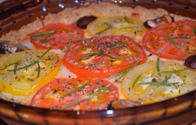 تارت بيتزا الطماطم