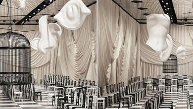 منصة عرض جديدة سريالية مزينة بقفص هائل في متحف Rodin في باريس