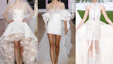 فساتين الزفاف واللون الأبيض اللامع وأجمل التصاميم لربيع 2018