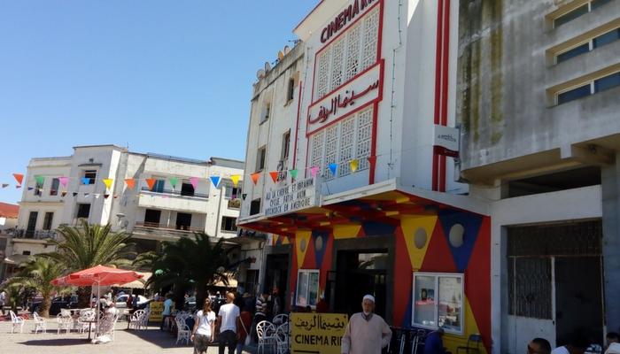 Cinema Rif en la Plaza 9 de Abril