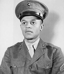 black man in marines
