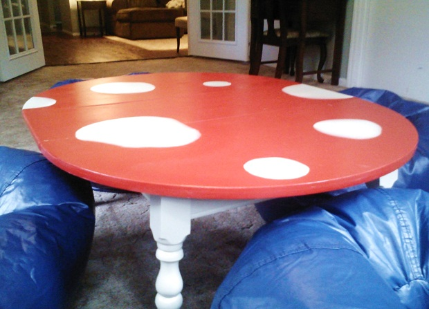 mushroom bean bag chair banana leaf dining table and chairs on the cheap can