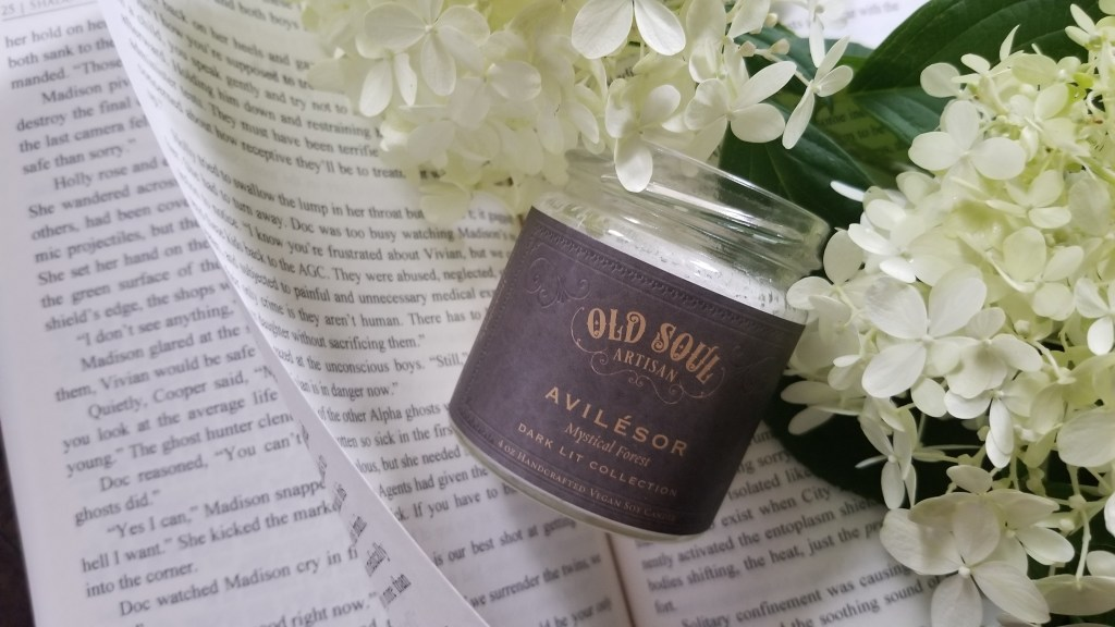 Avilésor mystical forest literary candle by Old Soul Artisan