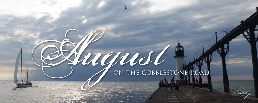 August on the Cobblestone Road lighthouse