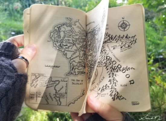 Tolkien map of Middle Earth from Lord of the Rings