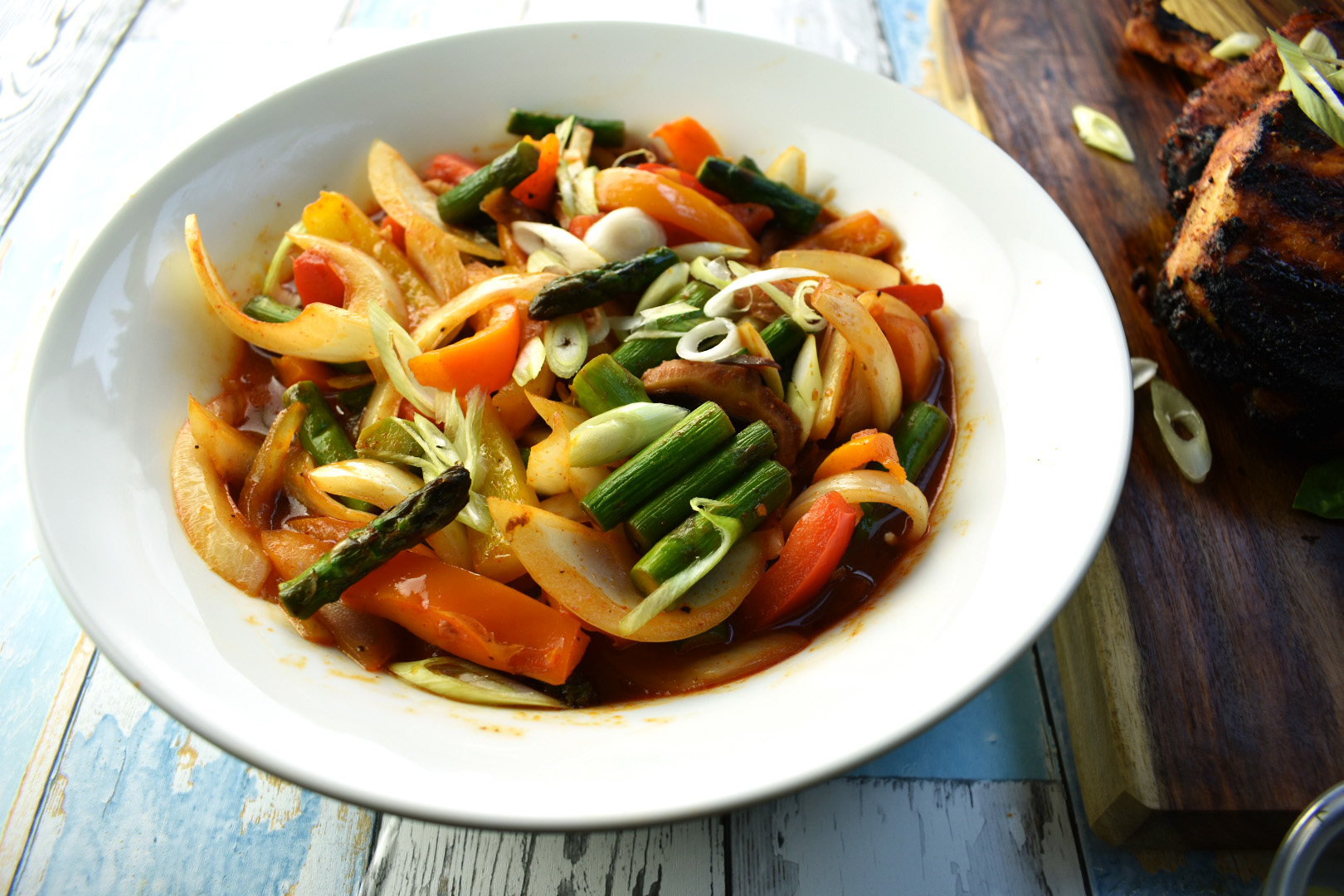 Korean Stir Fried Vegetables