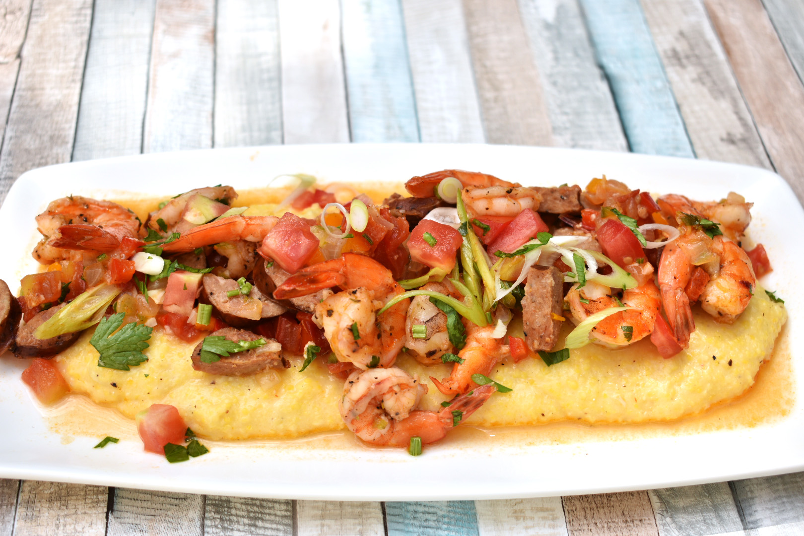 Spicy Shrimp and Creamy Parmesan Grits