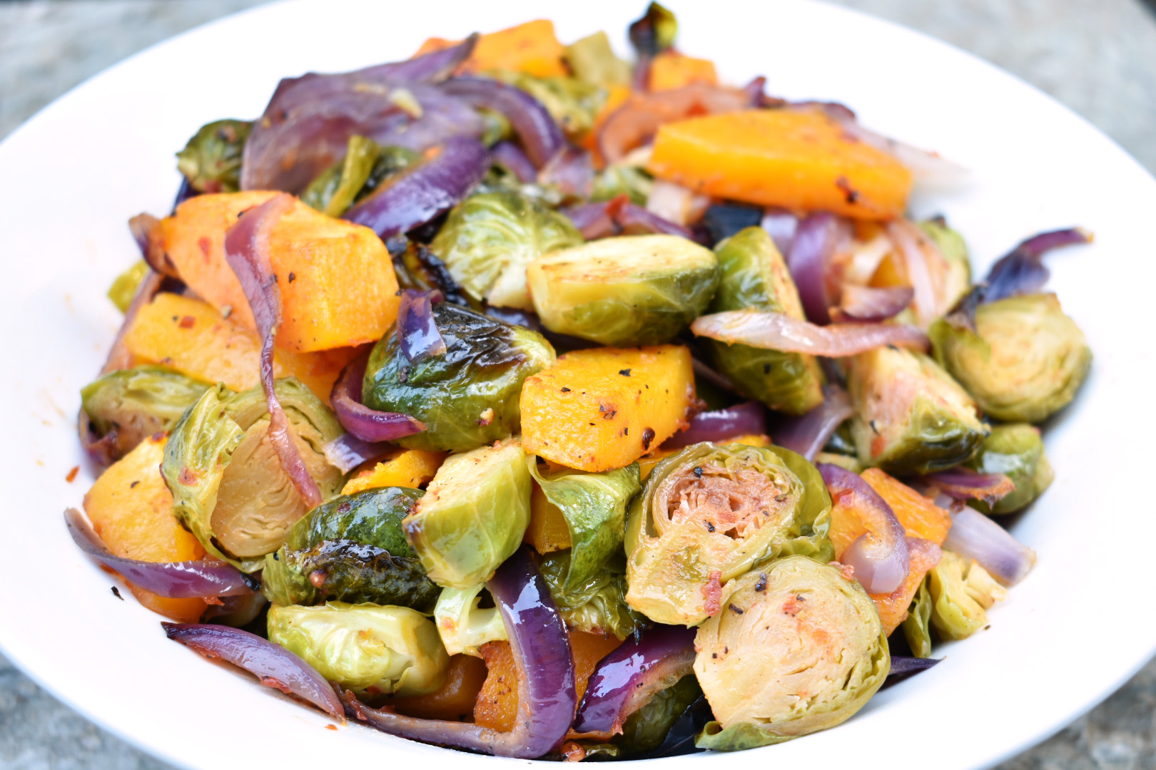 Chili and Garlic Roasted Vegetables