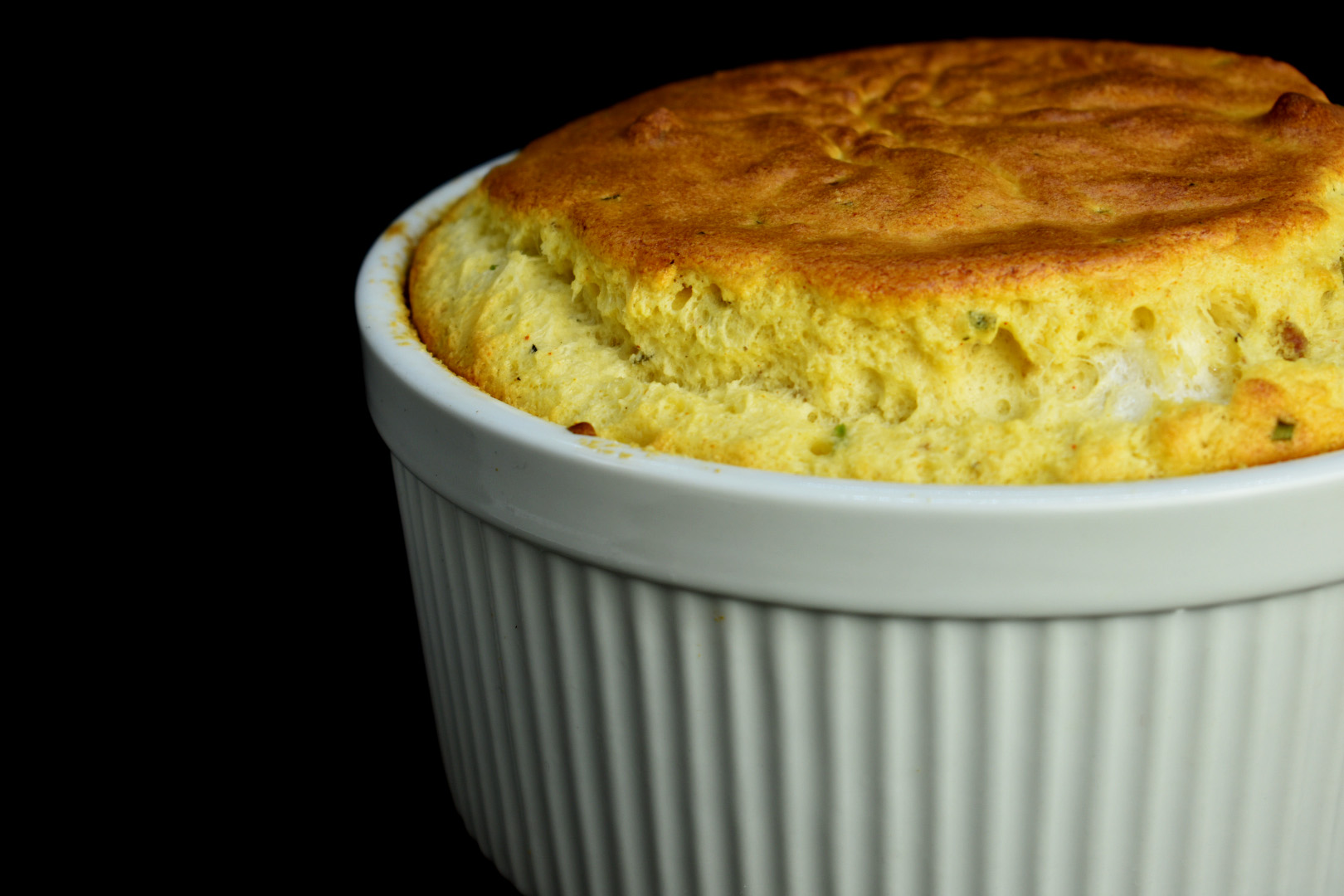 Sausage and Gruyere Souffle