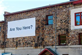 """An excercise in being present- Brattleboro Museum & Arts Center poses a question, """"Are You here?"""""""