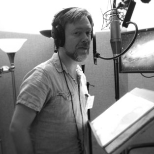 Nicholas Thurkettle recording in the studio.