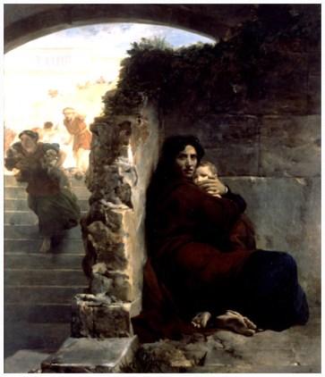 Painting by Leon Cogniet, 1824