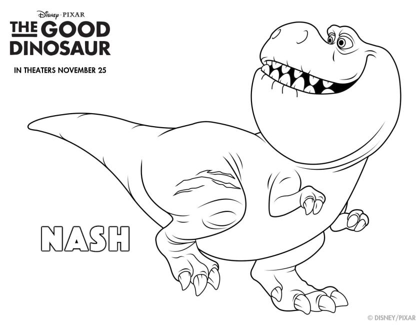 the good dinosaur coloring pagespage004  on the go in mco