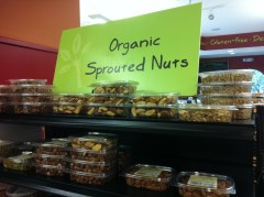 Sprouted nuts