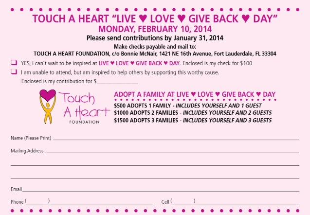 Touch A Heart RSVP Card 2014