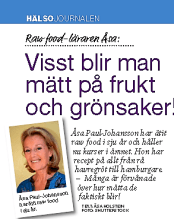 Rawfood teacher Åsa Johansson