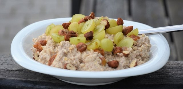 Bircher Müsli med vindruvor Grapes