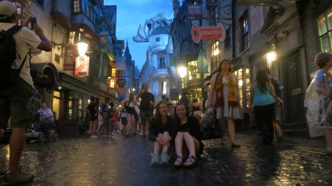 Perfect weather for Diagon Alley pics