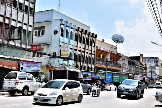 A main street in Fang