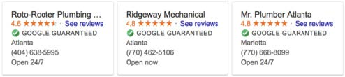 google screened local ad label
