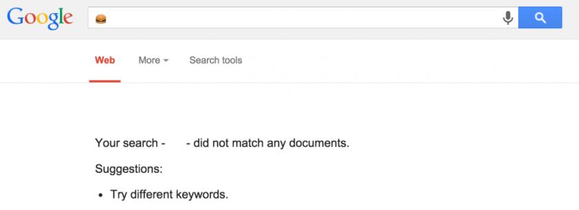 Google No Results Found