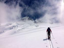 Skinning up the Coleman Glacier