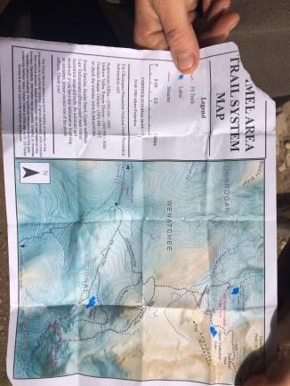 Map of Trail Reroute near Remmel Lake