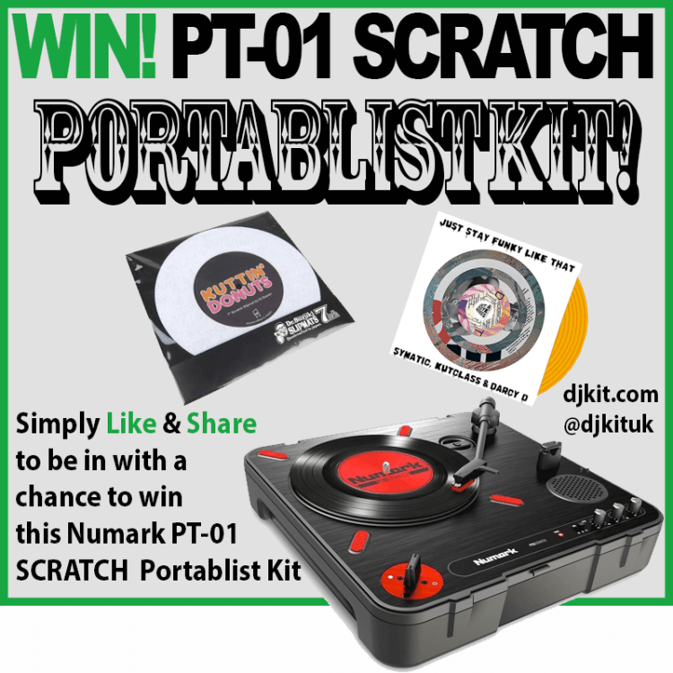 Win Numark PT-01 SCRATCH Portablist Kit