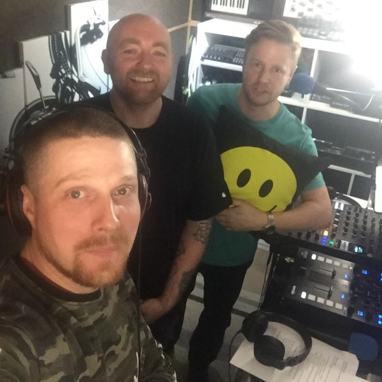 The DJ Knowledge Crate team: Terry Ryan, Jay Cunningham, Bazza Ranks