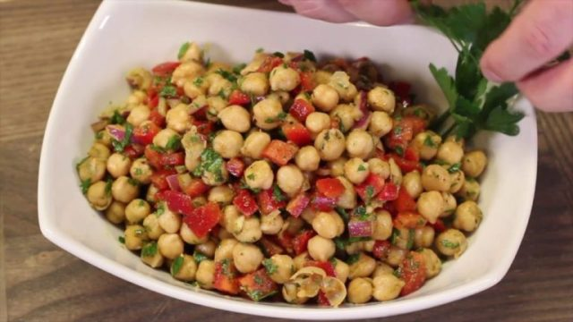 Chickpea Salad Recipe Falafel Chickpeas Recipes