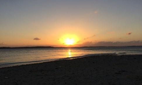 大神島から見る夕日