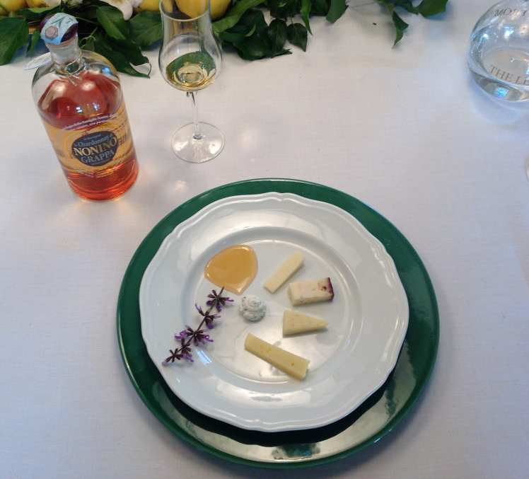 Cheese and grappa