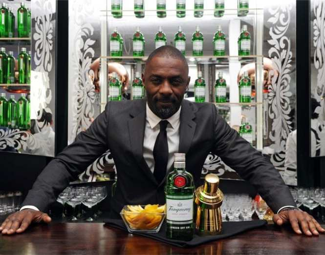 Idris Elba and gin