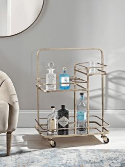 brass drink trolley