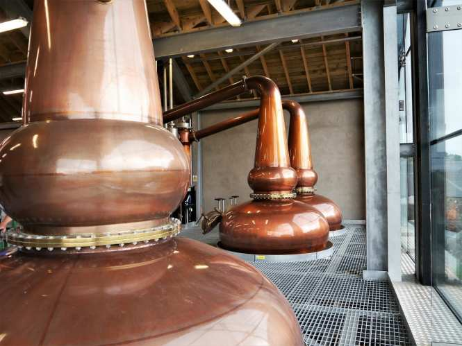 scotch whisky stills at Lindores Abbey
