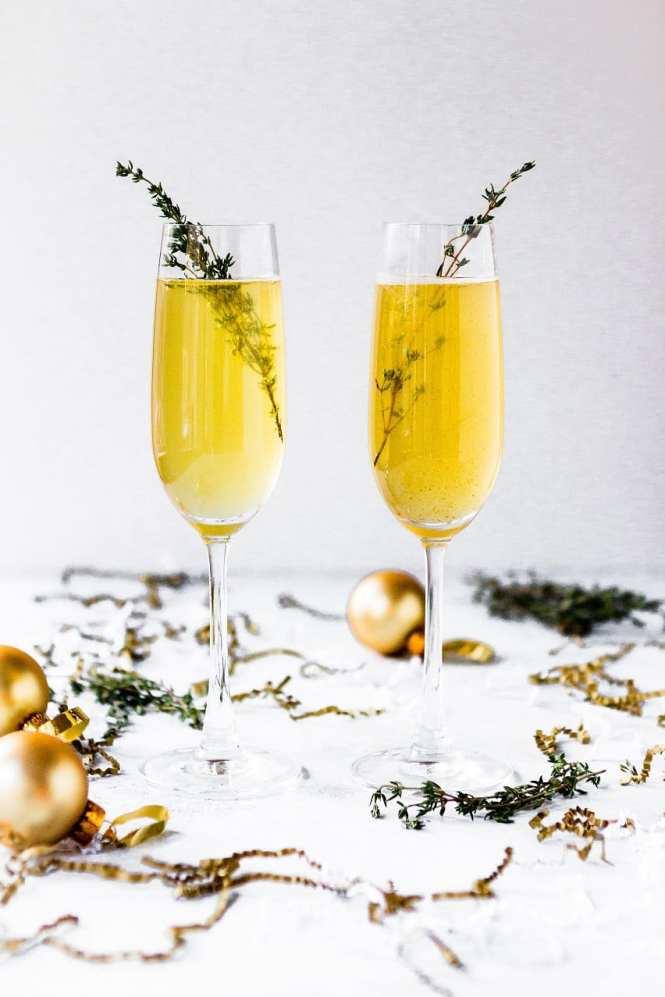 Yello champagne cocktail