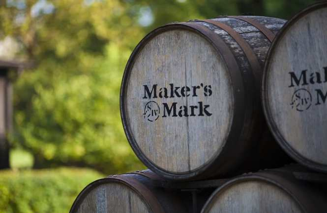 Maker's Mark whisky barrels