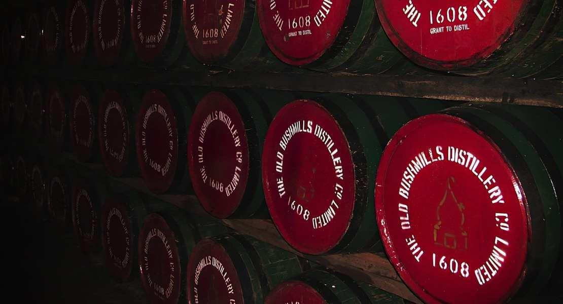 Bushmills Irish whiskey casks