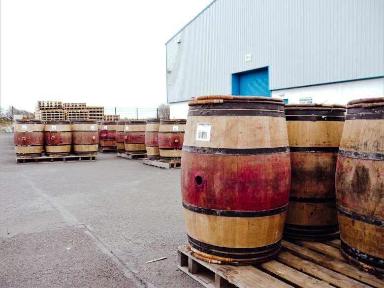 Irish whiskey warehouse in Ireland