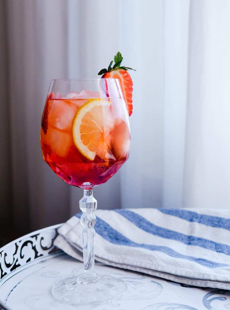 Strawberry Campari Spritz