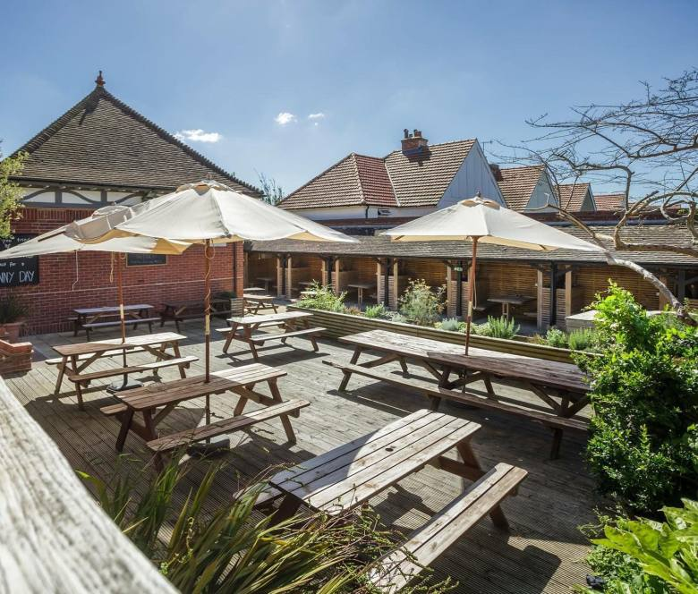 Pub with a large garden and seating