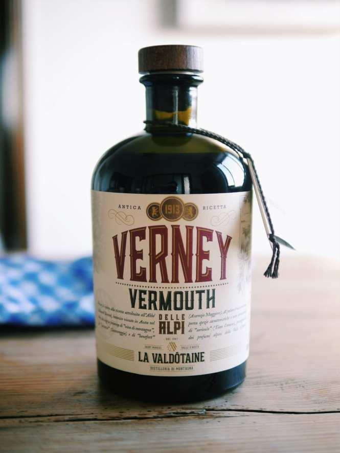 Italian sweet vermouth Verney delle Alpi