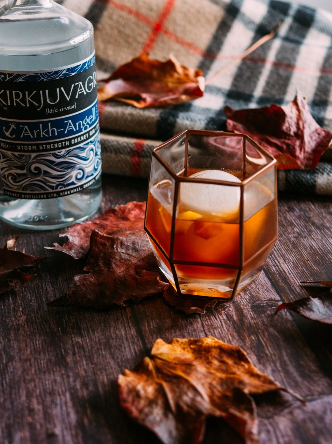 winter negroni with Kirkjuvagr Gin